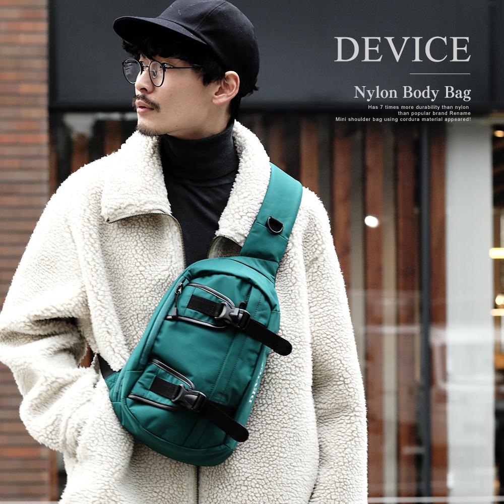 DEVICE ダブルバックル ナイロン ボディバッグ 【DBN80038】