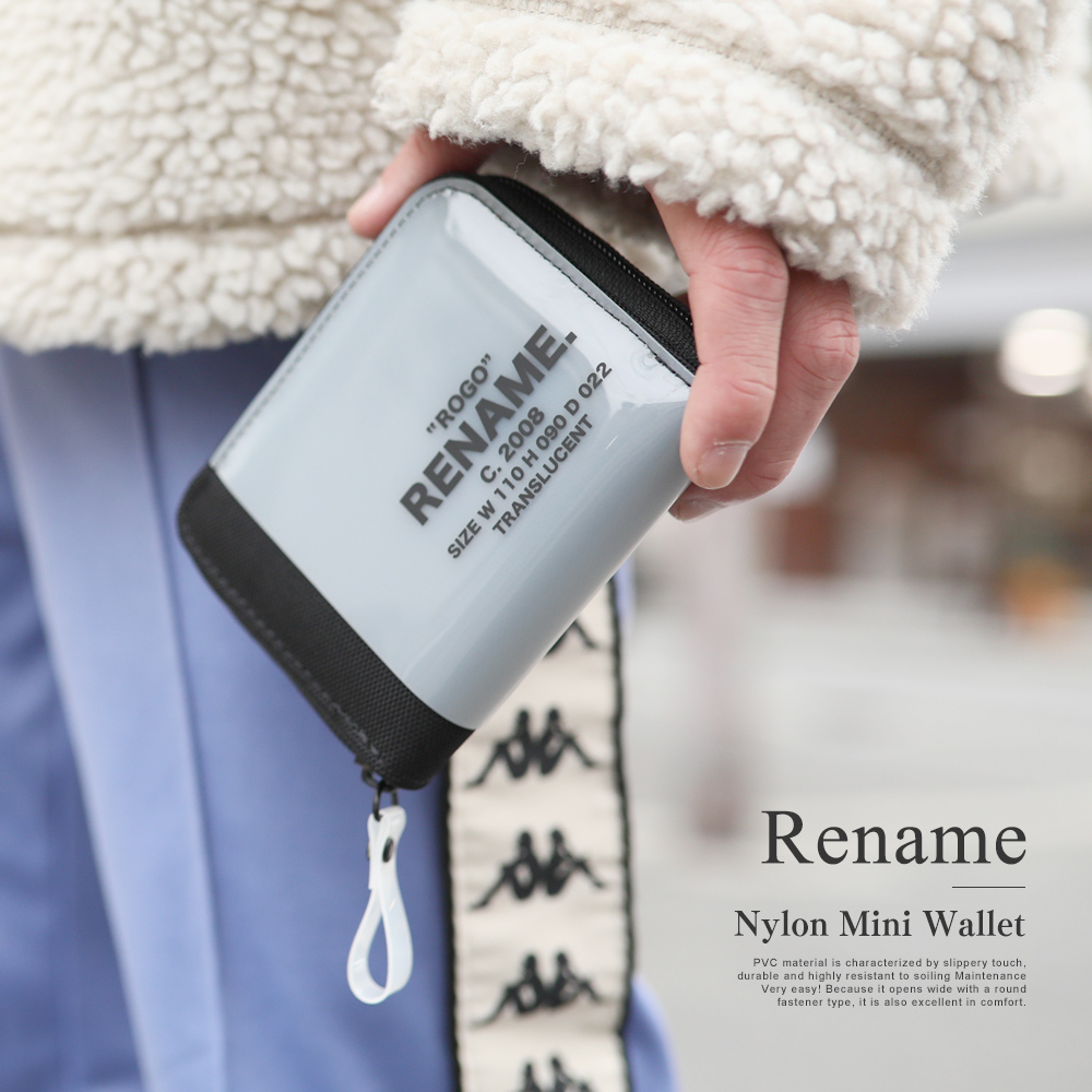 Rename CORDURAナイロン PVCミニラウンド財布