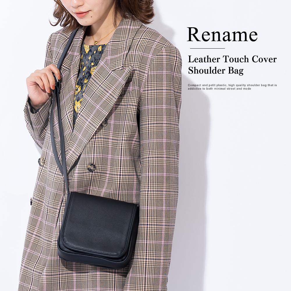Rename レザータッチ カバー ショルダーバッグ