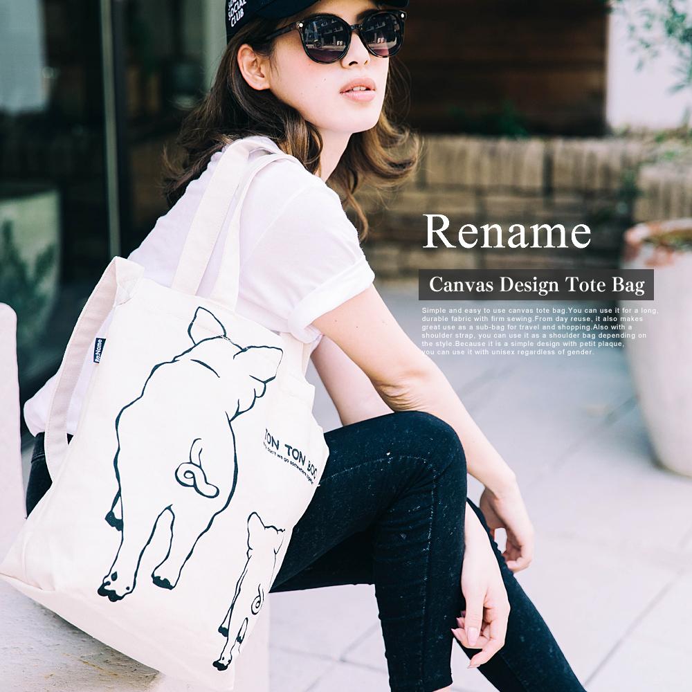 Rename ハンプ絵柄トート