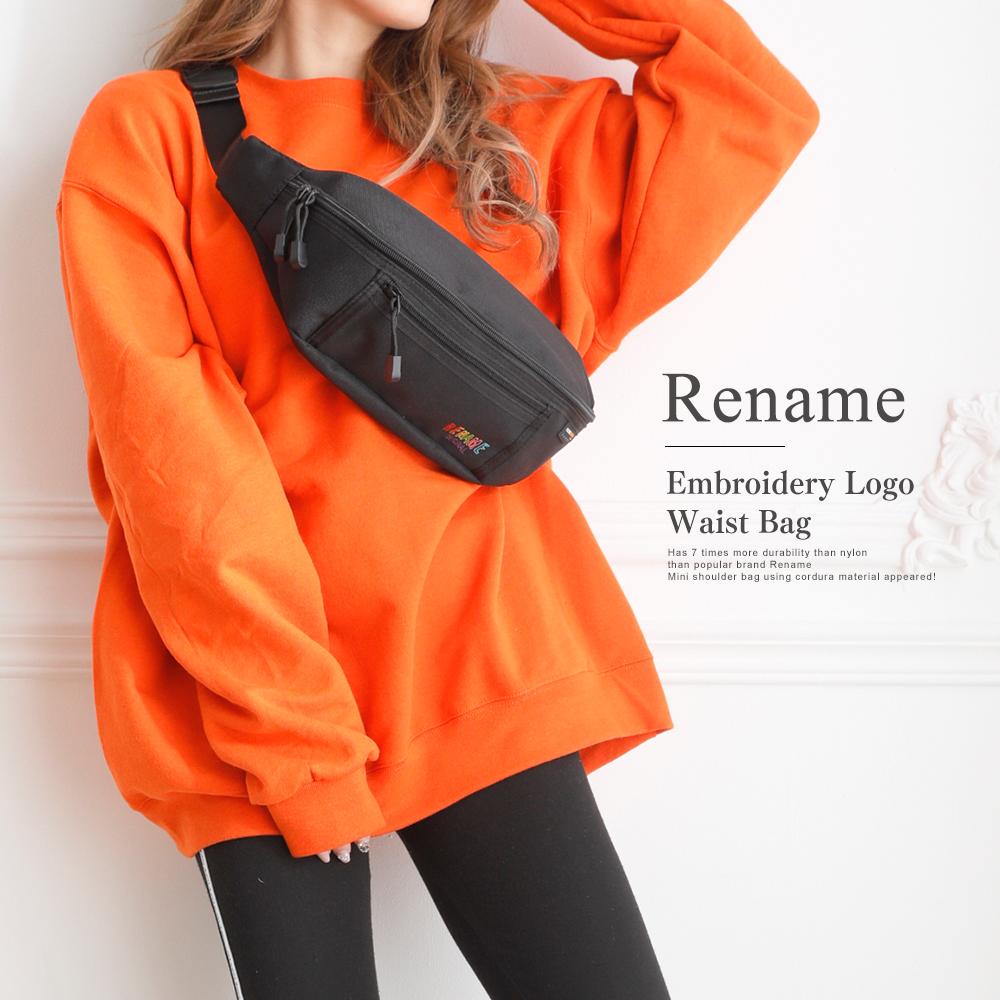 Rename CORDURA 刺繍ロゴウエストバッグ