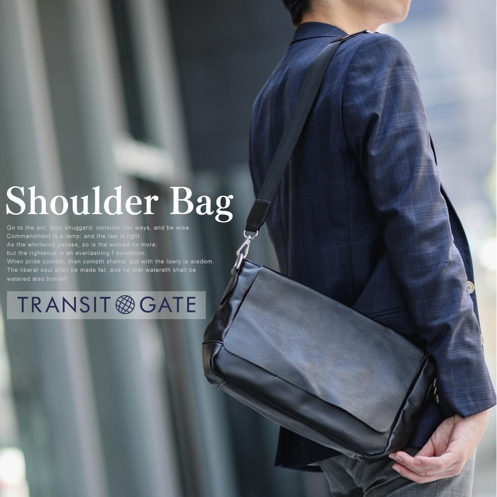 TransitGate レザー メッセンジャーバッグ